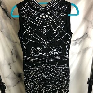 Black Bodycon Bedazzled Dress